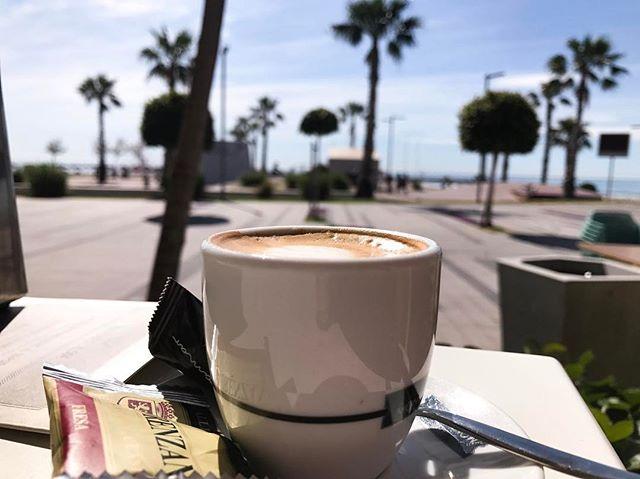 Desayuno con vistas a la playa 😍☕️🌴✨ beauty morning #coffee #beach #coconuttree