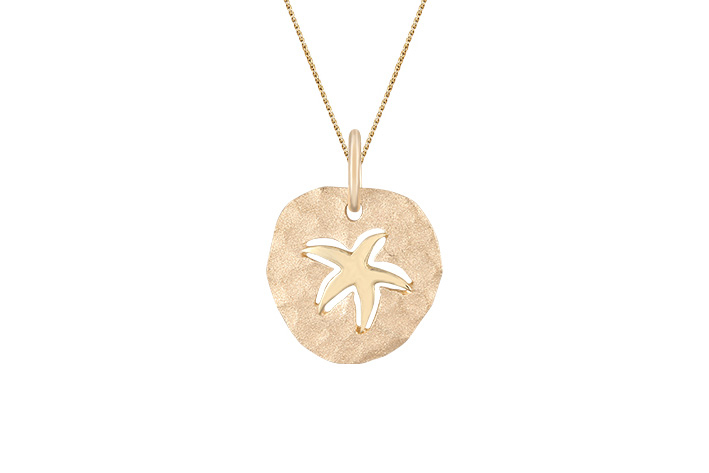 B-PSS15   14KY 15MM SEASTAR PENDANT