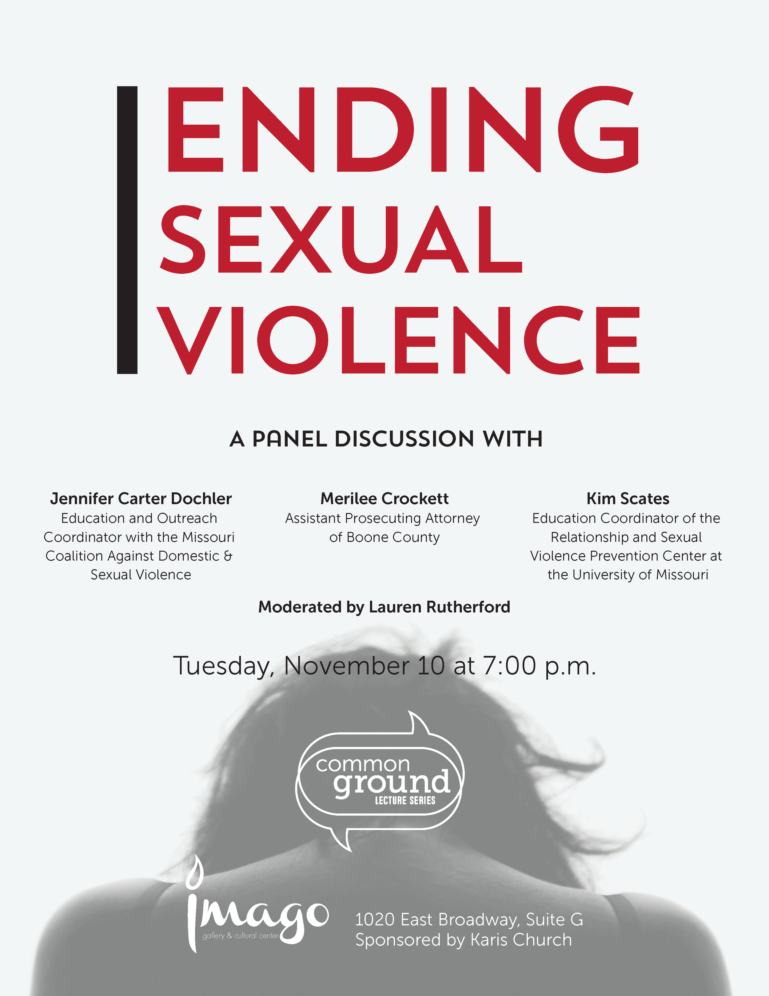 Ending Sexual Violence flyer