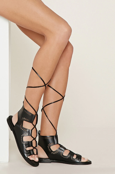 Forever 21's Cutout Lace-Up Sandals ($29.90)