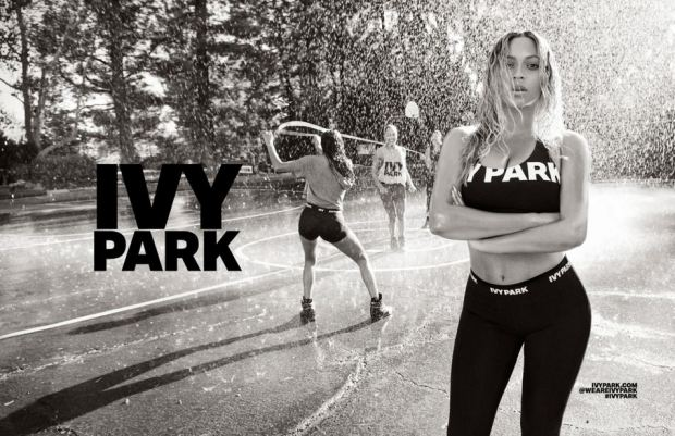 Bey looking flawess in her Ivy Park campaign; image  via