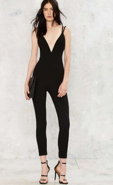 "Nasty Gal's  ""Deep Meaning Plunging Jumpsuit"" for $58"