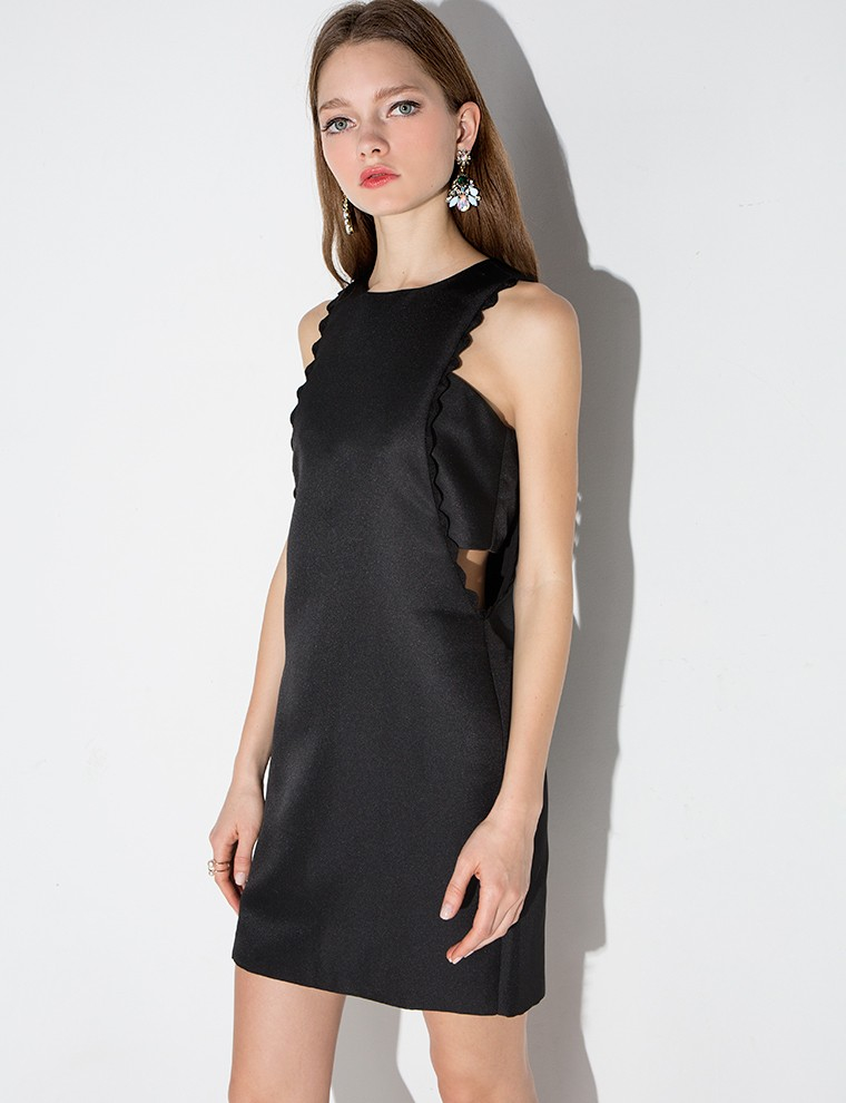 """Black Scalloped Dress,"" $40; image via here"