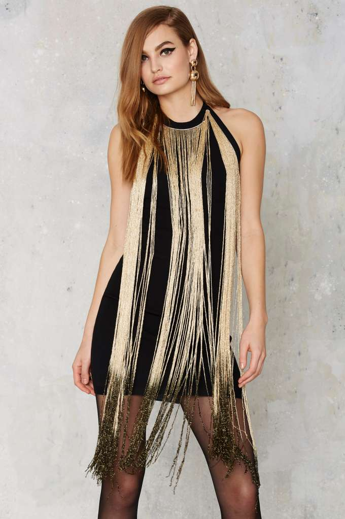 """Glamorous Slay in Ombre Fringe Dress,"" $68; image via here"
