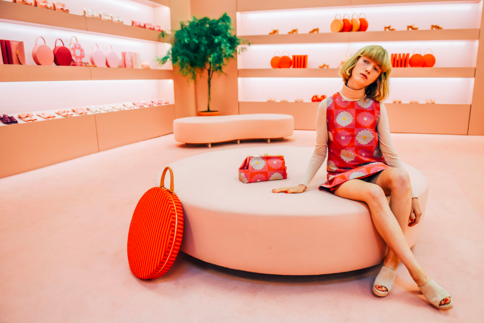 A pastel infused portrait from the Mansur Gavriel showroom; image  via