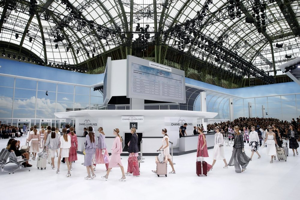 The Grand Palais' elaborate Chanel themed airport; image  via