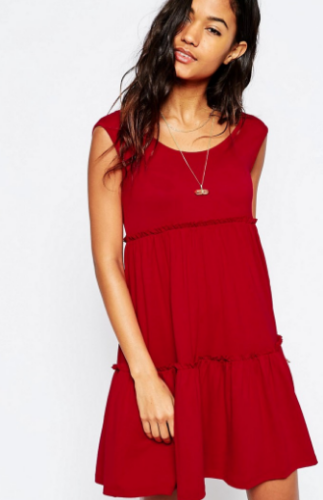 ASOS Sleeveless Tiered Swing Dress; $33; image via