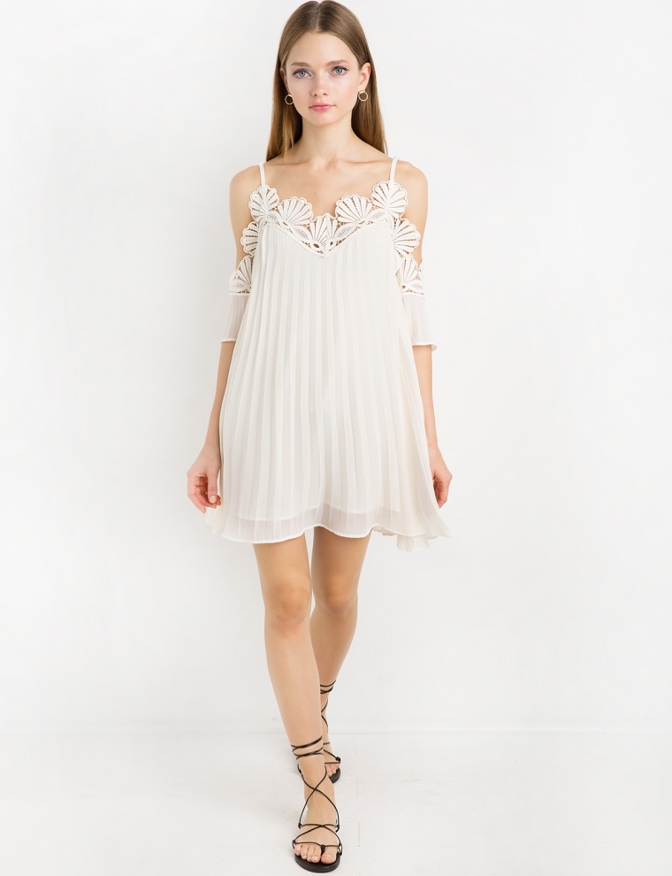 Pixie Market; Lace Crochet Off The Shoulder Dress By New Revival $128; image via