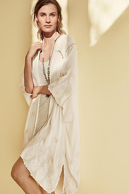 Anthropologie Embroidered Vivonne Kimono  $128;  image  via
