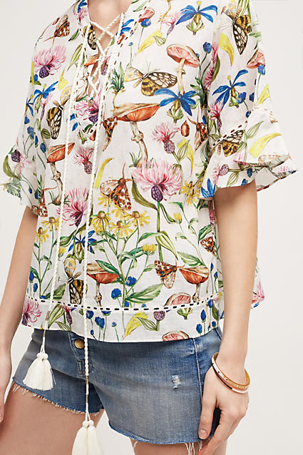 Anthropologie Flora & Fauna Blouse  $198 ; image  via