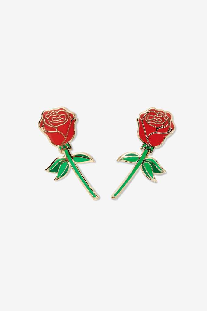 NastyGal Big Bud Press Red Rose Pin Set  $28 ; image  via