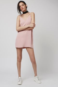 Topshop Petite Cross Back Slip Dress  $55 ; image  via