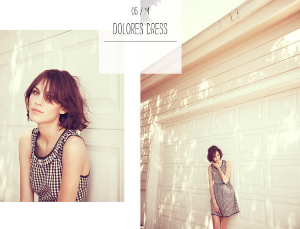 Stills from Chung's sold out collection for Madewell back in 2011; image  via