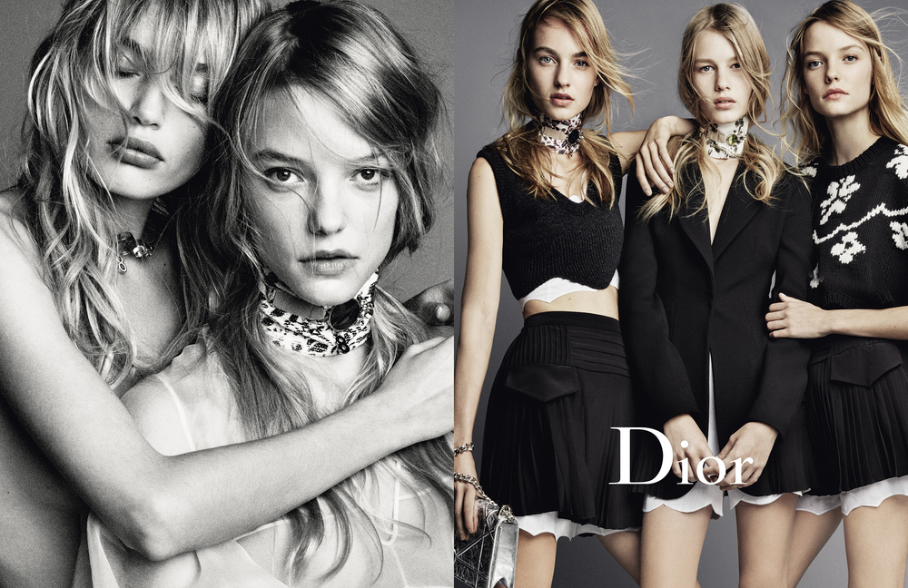 Dior's latest campaign; image  via