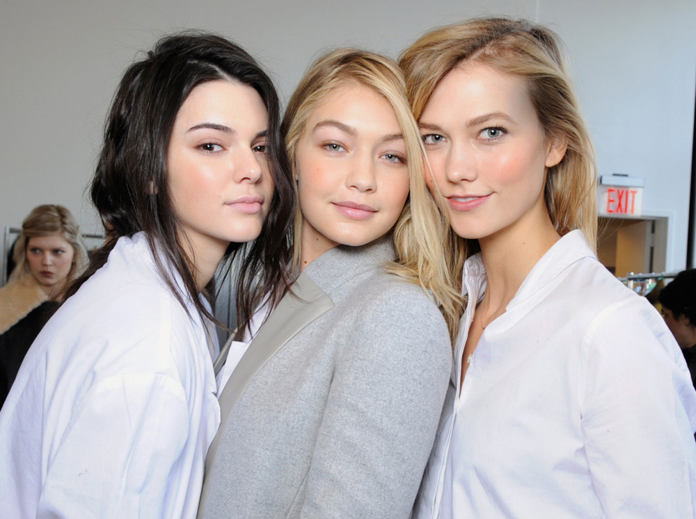 Kendall, Gigi and Karlie backstage at Michael Kors; image  via