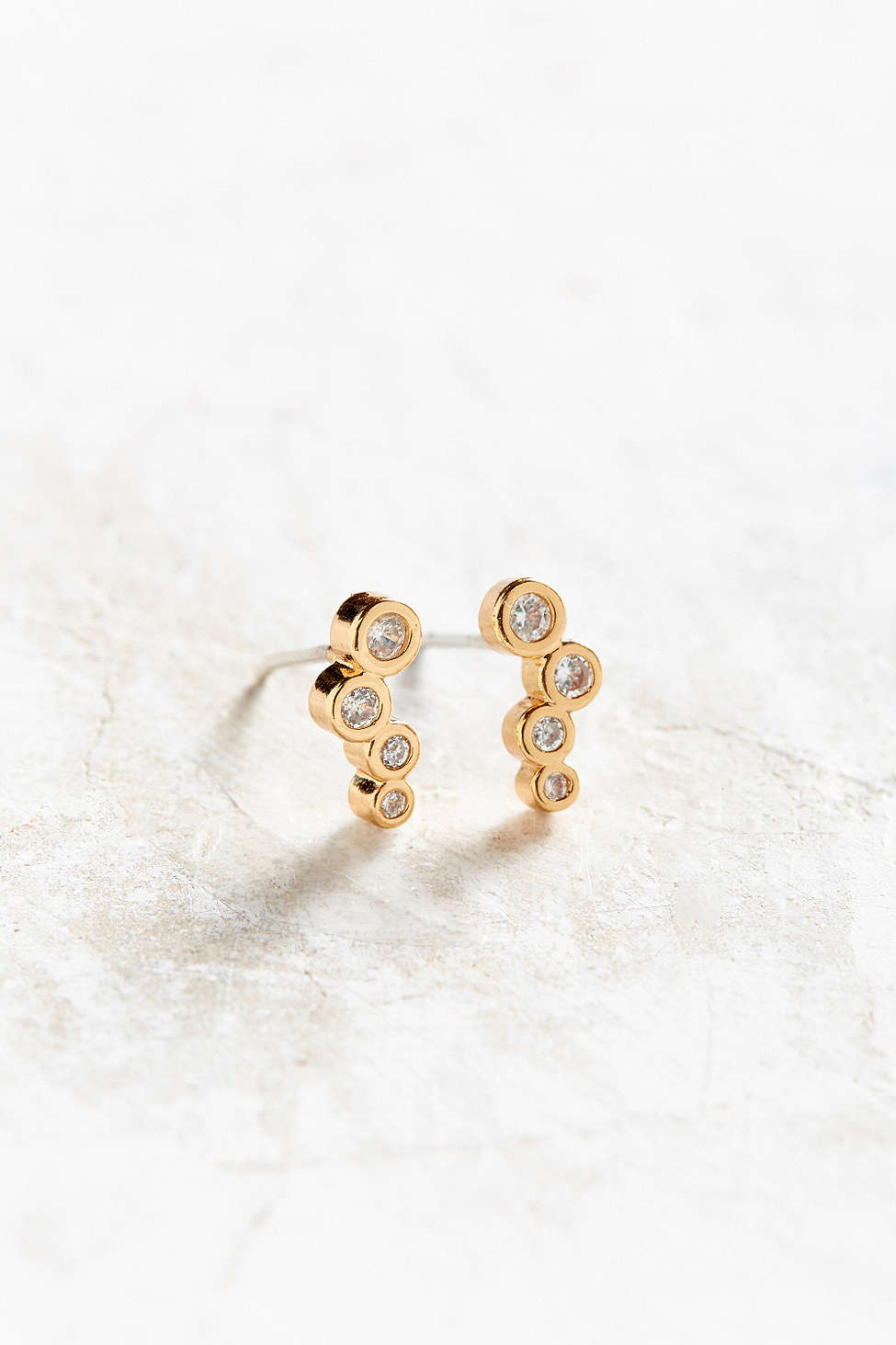 Clustered dot earring, 18K gold plated studs.