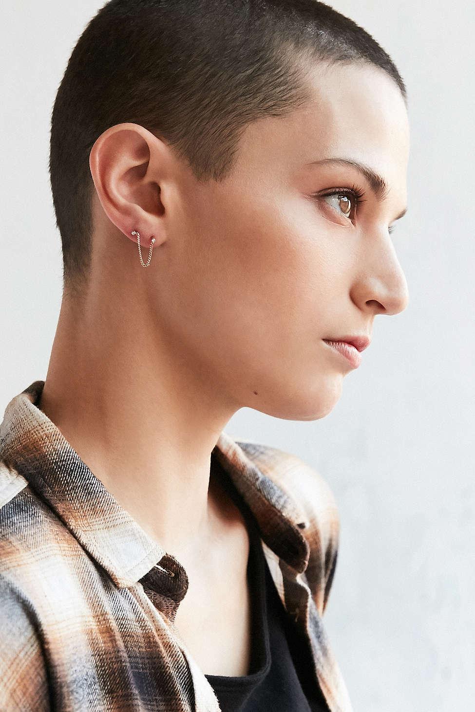 Gemstone ear climbers, $16.