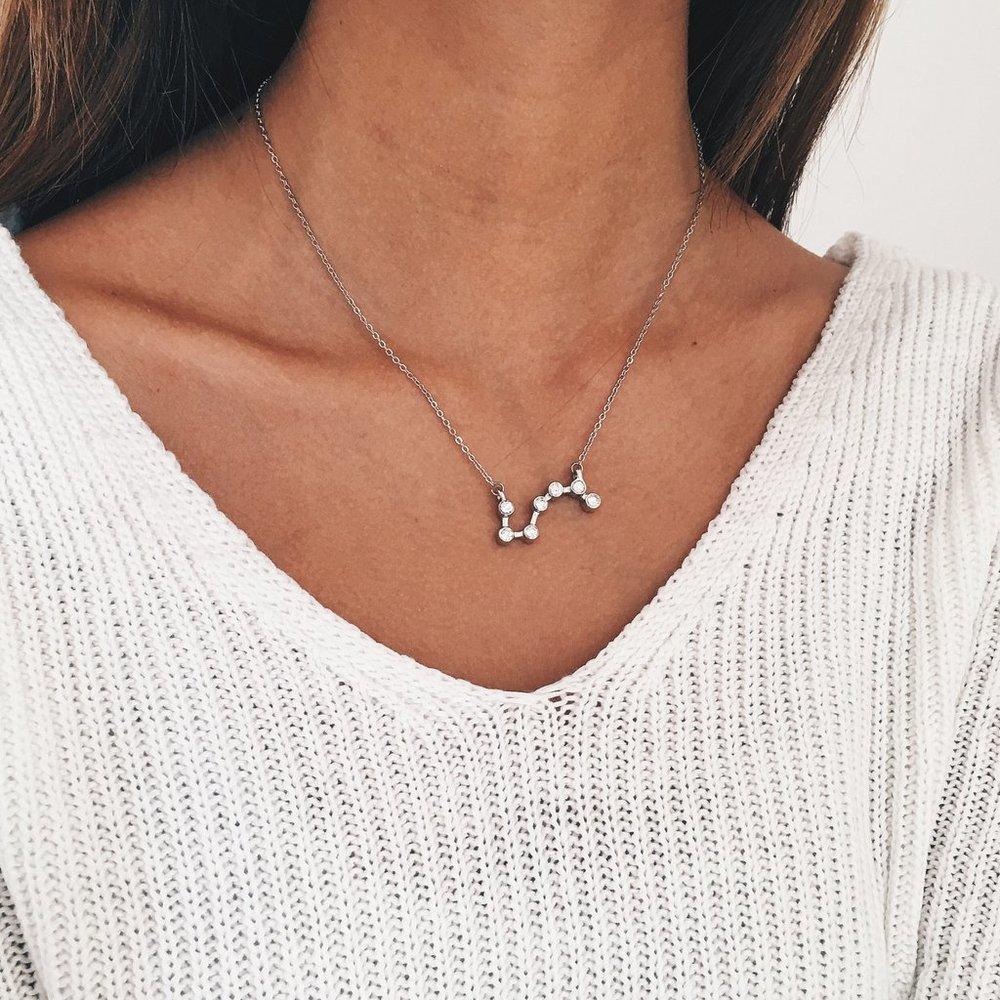 Constellation necklace, $22.