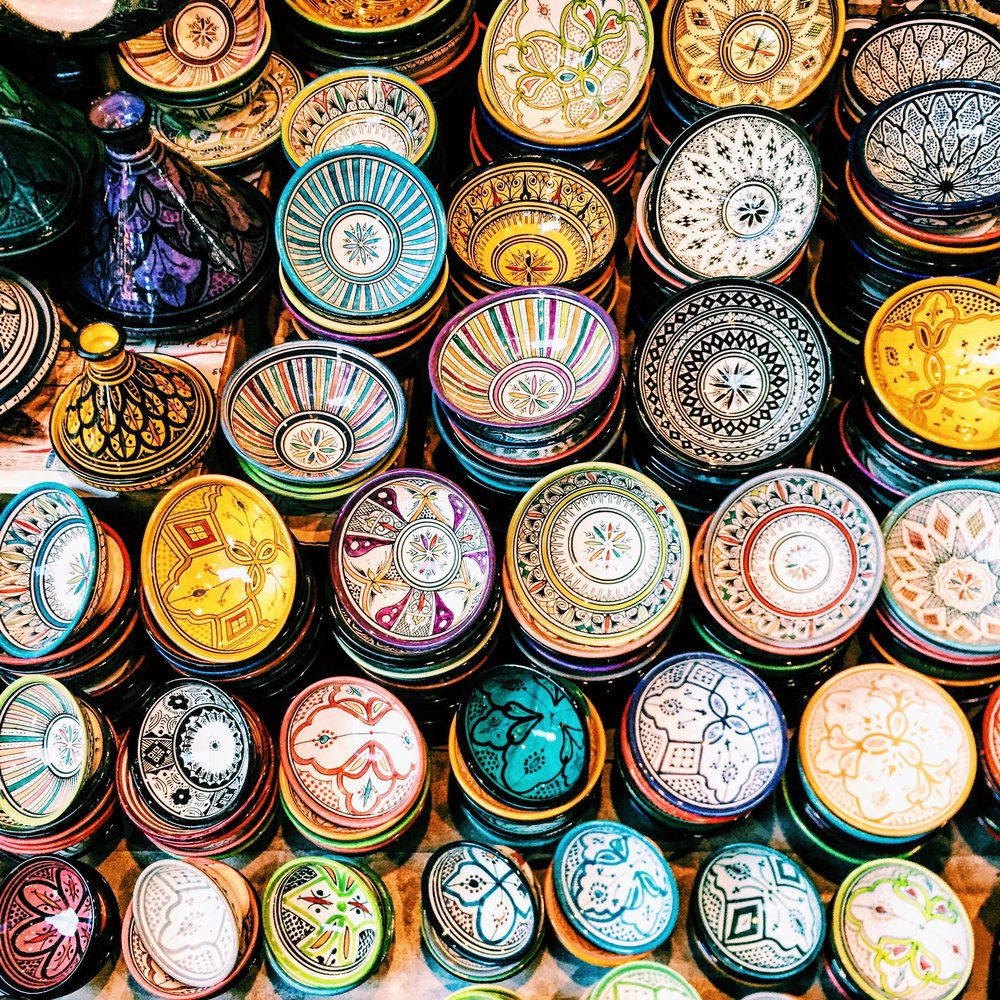 Colorful ceramic ware is one of Morocco's most famous products.