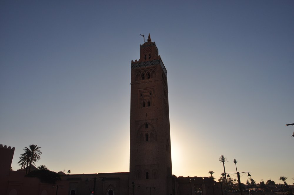 "The Koutoubia Mosque, also known as the ""Bookseller's Mosque"" due to the booksellers in the nearby  souk . It was rebuilt because it did not properly face Mecca."