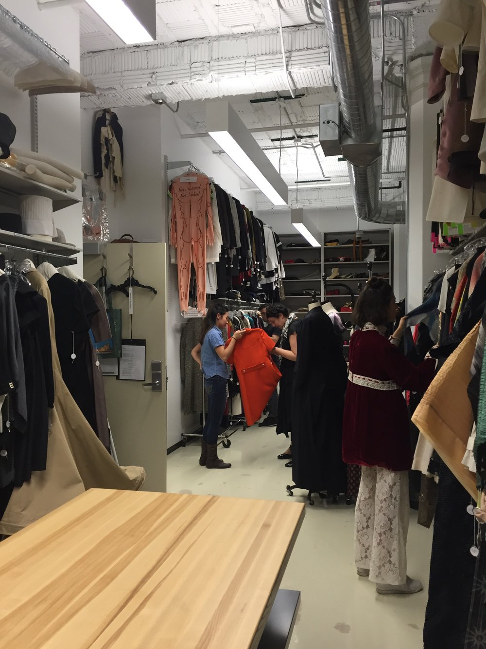 """Fashions resource center downtown at SAIC was helpful in informing me about sketches, and the possible range of designer collections that test human imagination."""