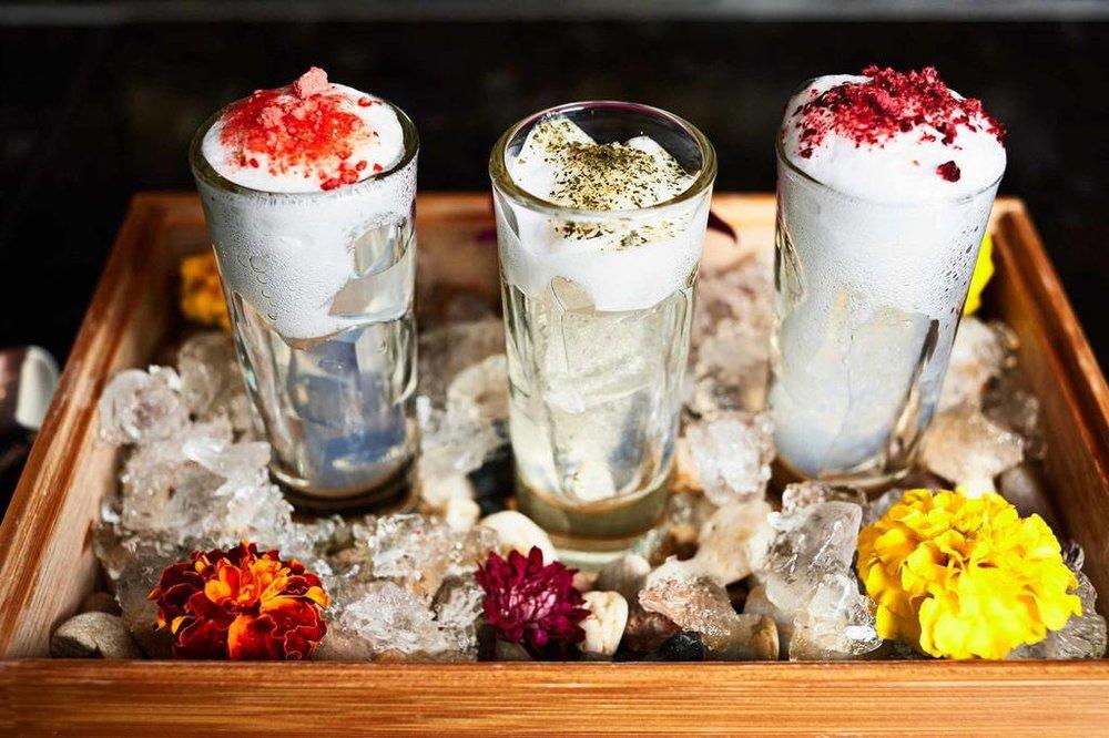 Drinks at Sable Kitchen and Bar; image via