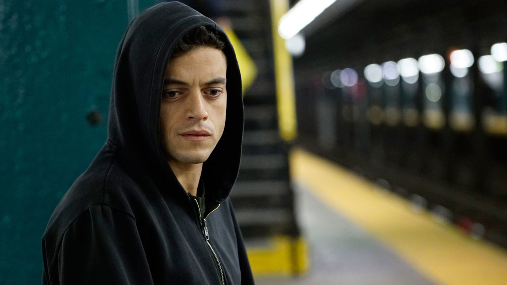 Rami Mallek as the drug addict protagonist; image via