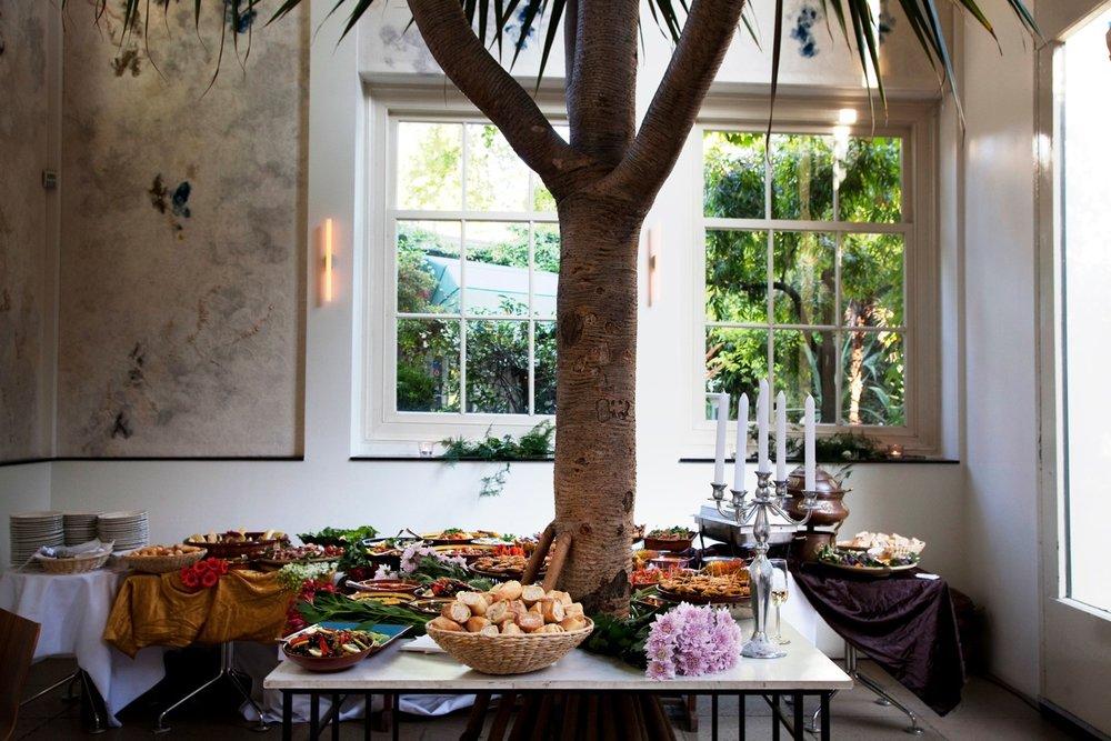 Hortus cafe's airy interior; image  via