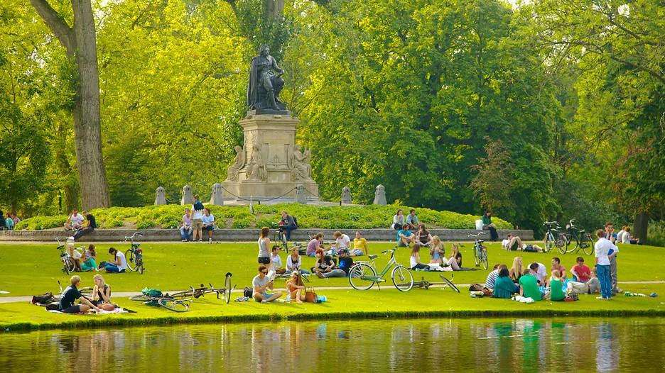 Locals enjoying Vondelpark; image via