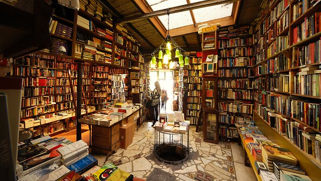 Shakespeare and Co. bookstore; image  via