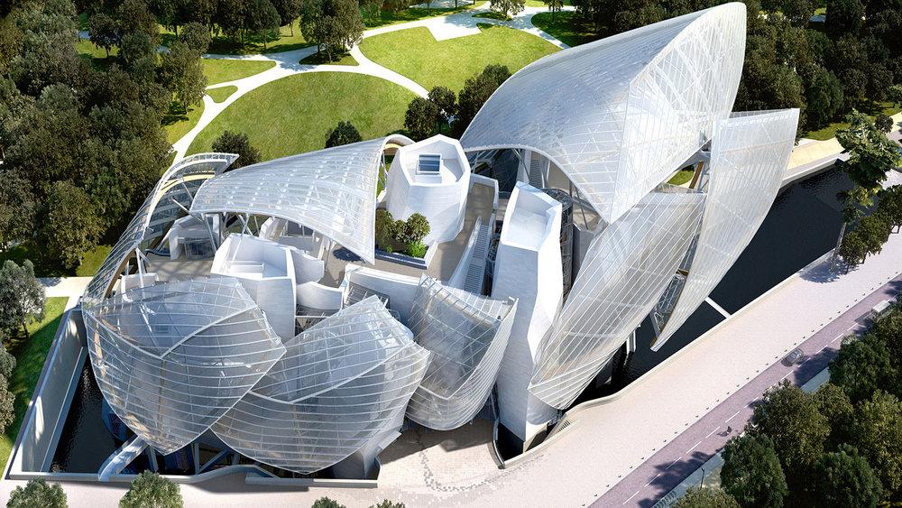 Fondation Louis Vuitton; image  via