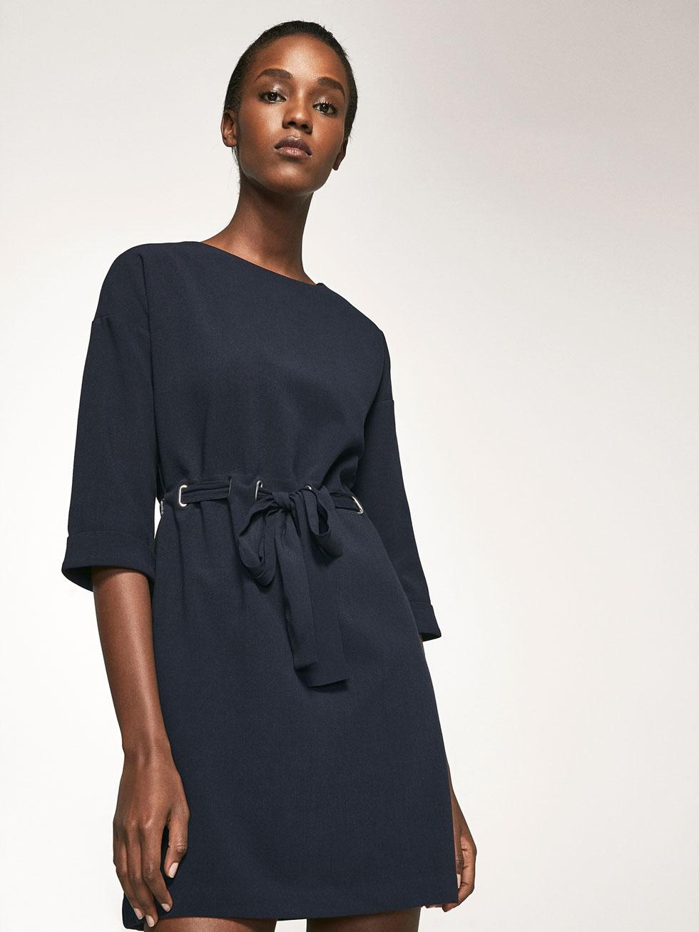 DRESS WITH BELT DETAIL