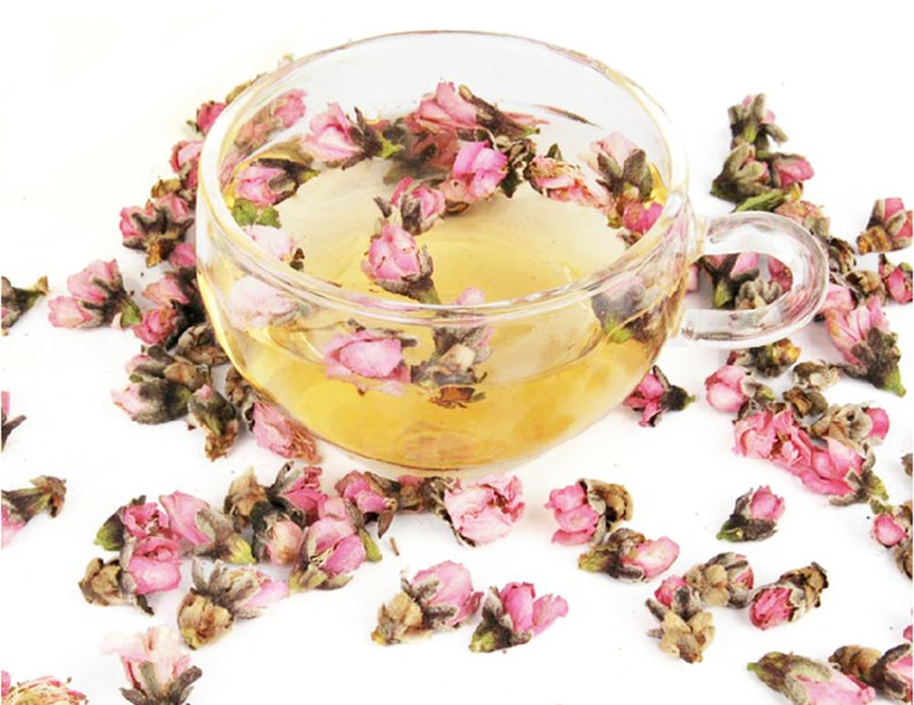 Peach flower tea