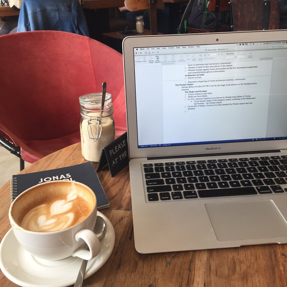 One of my favorite cafes next to my German course - Jonas Reindl!