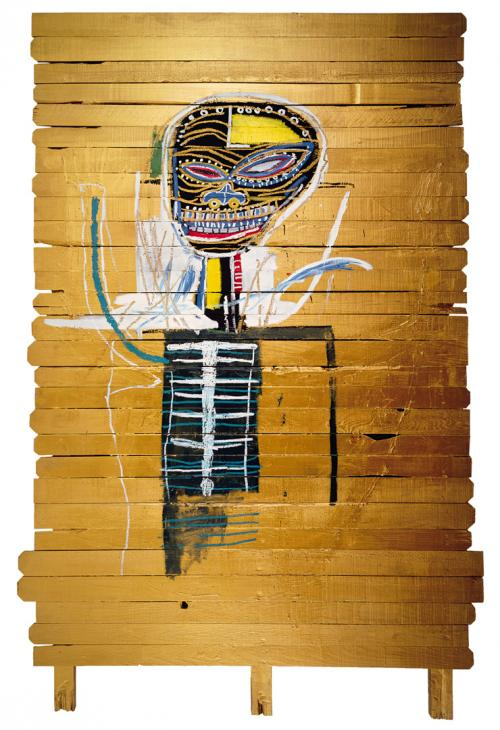 Gold Groit by Jean Michel Basquiat, featured on Urban Decay's Gold Groit Palette. Image  via