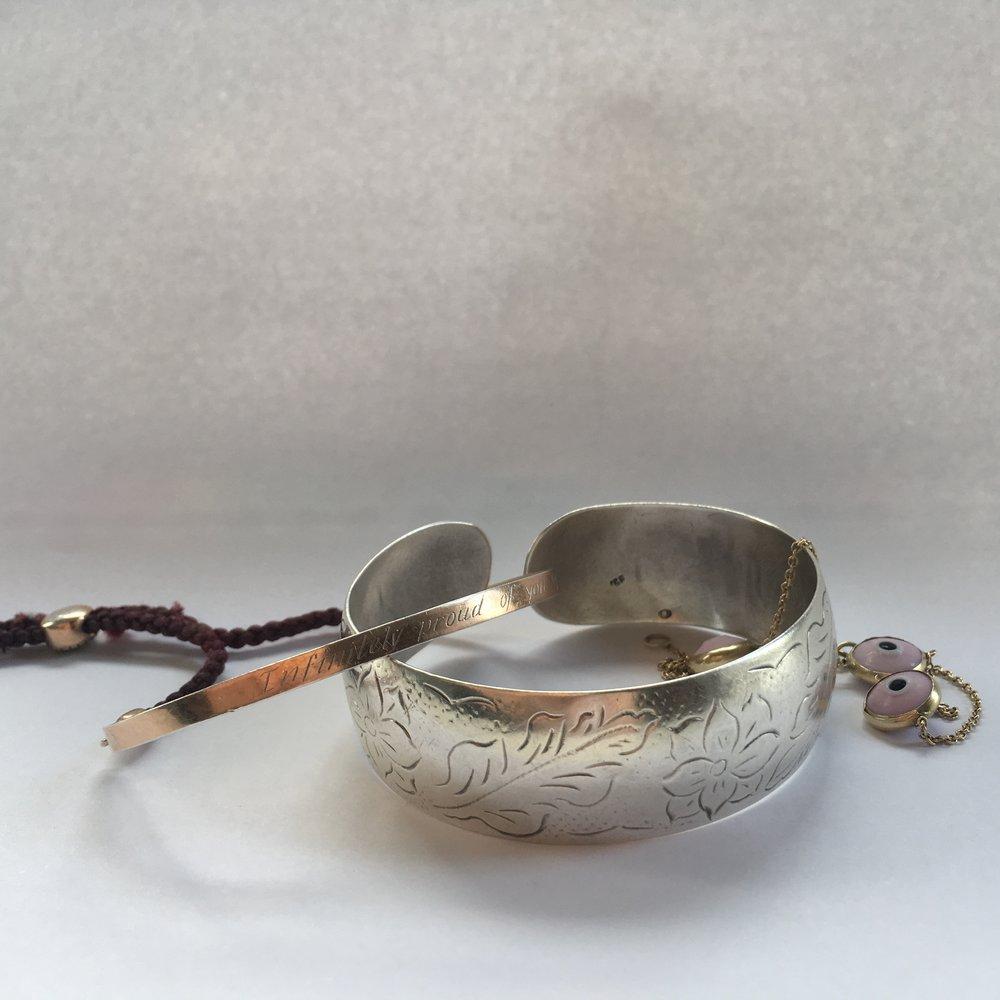 My great grandmother's bracelet (centre)
