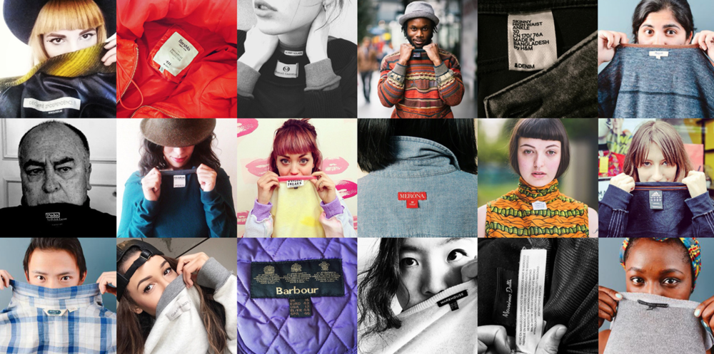 Show Your Label #whomademyclothes /  Image via  Fashion Revolution