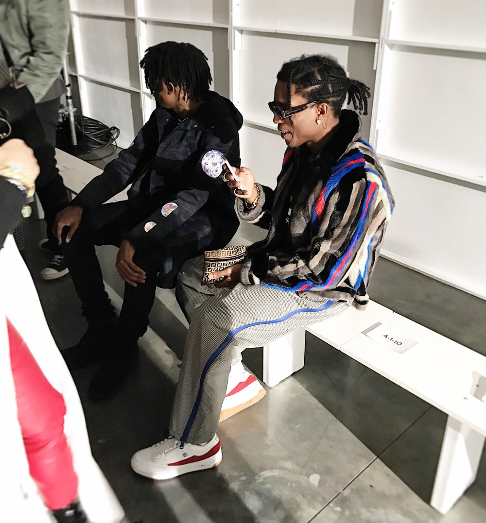 """Carti is being such a weirdo. It's his first fashion show, and he loves Raf, so I get it. I was nervous my first Raf Simons show, too—it's like that when you meet a legend."" — A$AP Rocky, Vogue 2017"