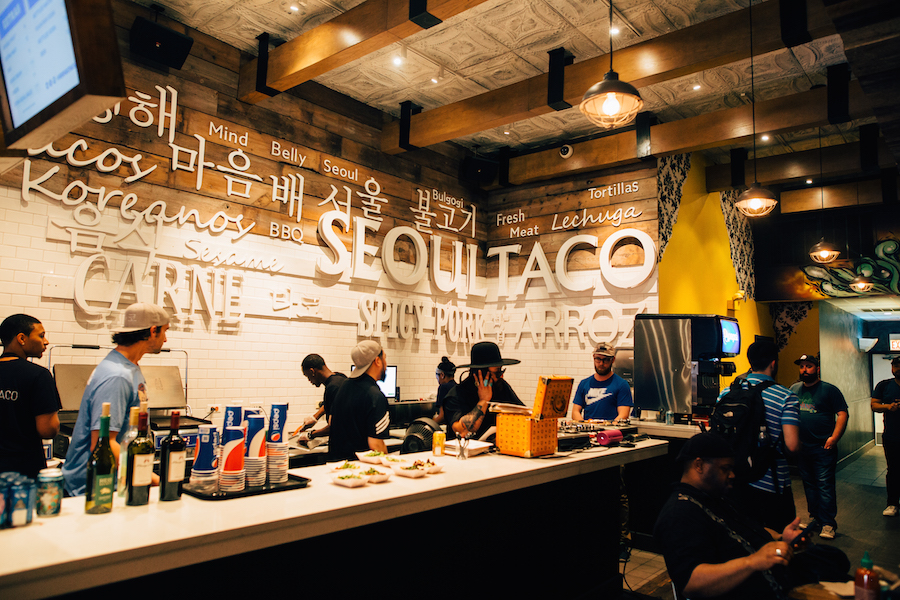 The counter at Seoul Taco, image from  SocialLife Chicago