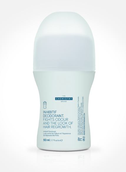 inhibitif deodorant - Contains high concentrations of multiple actives to minimise the need for hair removal under the arms whilst fighting odour. With daily use, the need to shave or wax will be reduced dramatically.Check it out here.