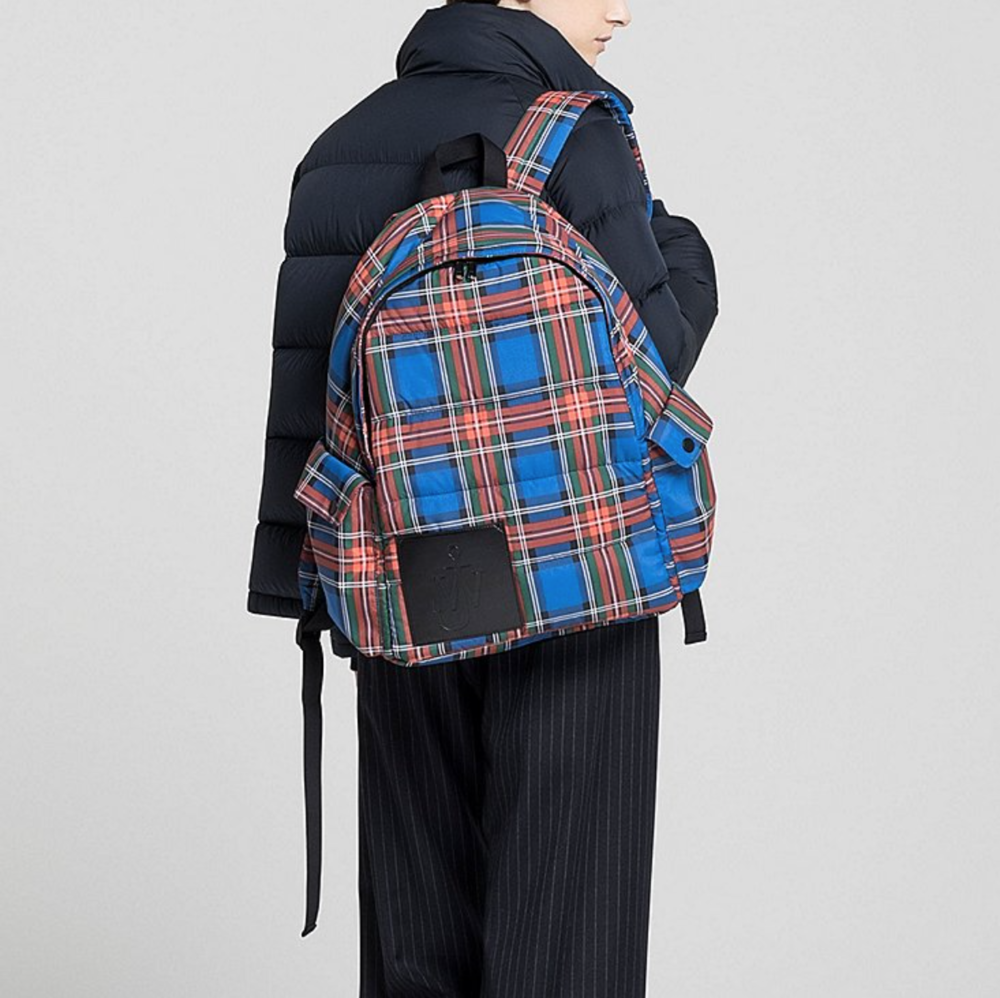 Padded Backpack - It's quintessential British plaid. Puffer coats have made comeback and now your backpack can match! Shop here.