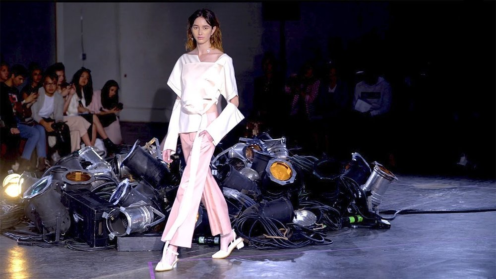 New comer Lujin Zhang's SS18 show in New York,  via