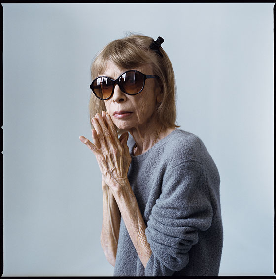 Didion today.  Image via New York Magazine.