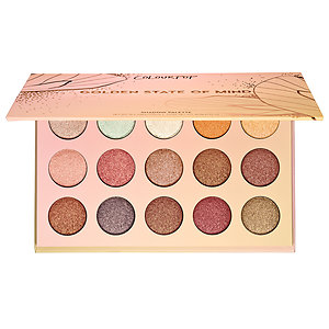Golden State Of Mind Shadow Palette - This palette has a warm, shimmery finish. Perfect for the fall, you might ask yourself: would I want this though for the winter? During the cold weather, a nice wash with these eyeshadows over your eyelids can be that extra pop to your winter makeup look!