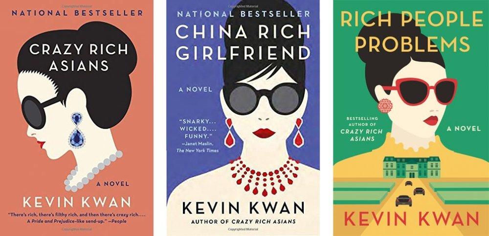The  Crazy Rich Asians  trilogy; image  via
