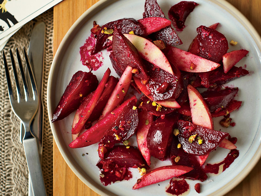 Beet-and-Apple Salad - An uncommon but delectable combination of apples and beets, this salad thrives with horseradish, cider vinegar, and a touch of Dijon. Feel free to experiment!