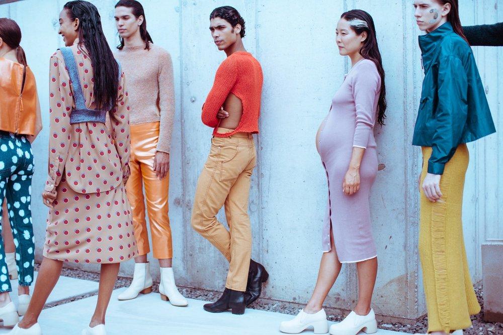 Eckhaus Latta's SS18 Collection featured on Dazed Digital  via .