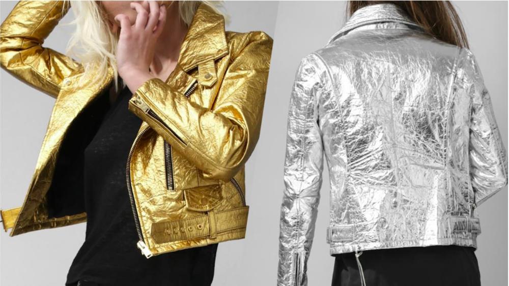 Altiir Pineapple Leather Moto Jackets
