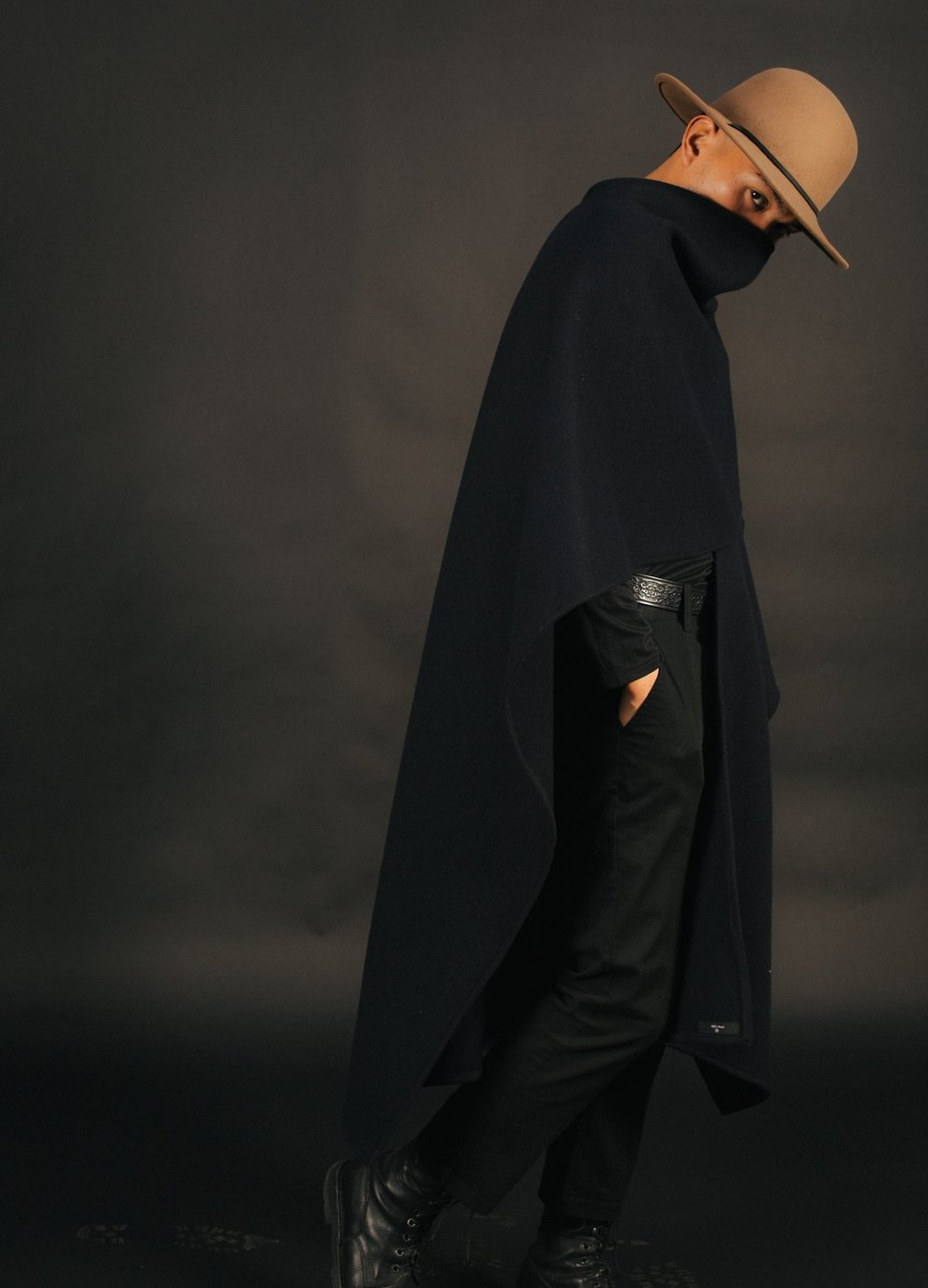 Mistohn featured vegan capes made of pinatex, a recycled pineapple fibre. Image  via