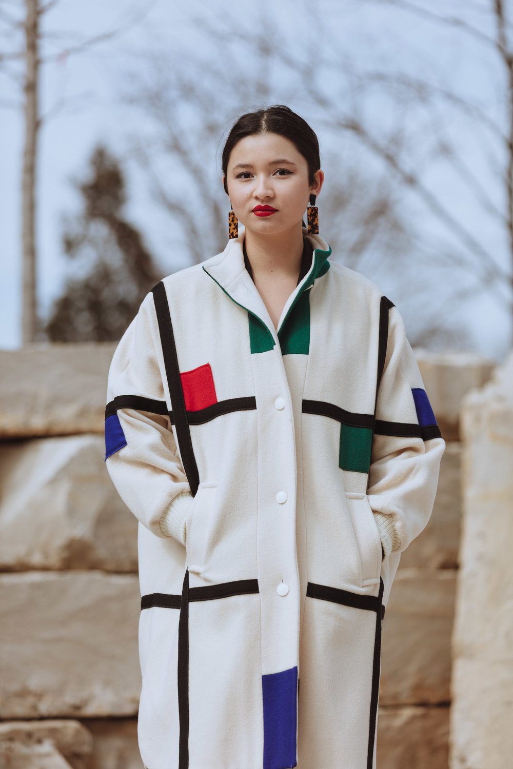 This jacket is probably the most cherished piece that I own. One of the things I love about it is how excited people get when they see me wearing it on campus because it resembles a Mondrian painting, a true testament to the kind of people at UChicago.